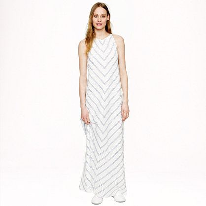 Linen chevron maxidress