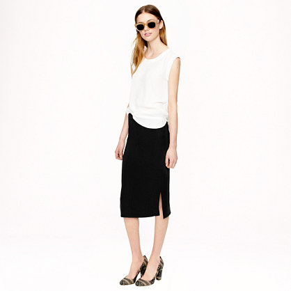Sale alerts for J.CREW Side-slit soft pencil skirt - Covvet