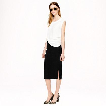 Sale alerts for J.CREW Side-slit soft pencil skirt - Covvet