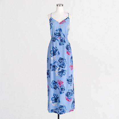 Factory printed maxi dress