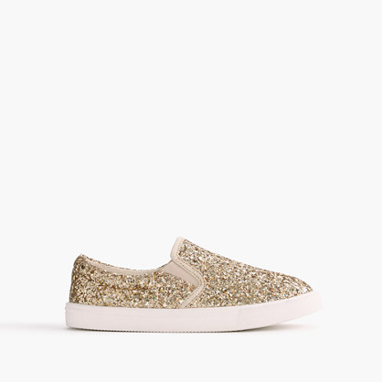 Girls' slide sneakers in glitter