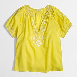 Factory V-neck peasant top