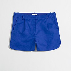 Factory scalloped pleated short