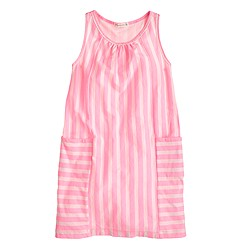 Girls' stripe racerback dress