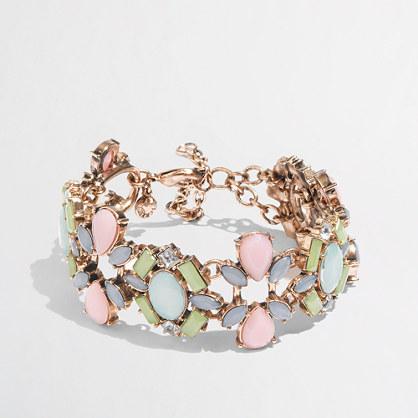 Factory pastel cluster bracelet