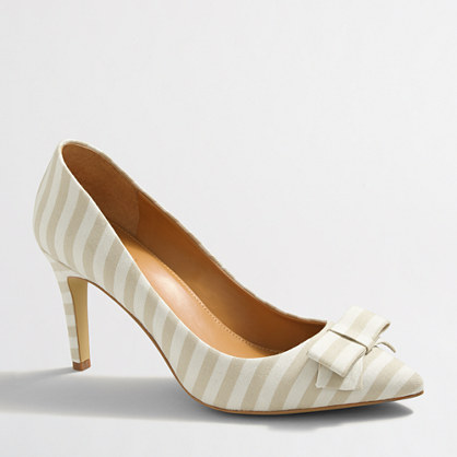 Isabelle printed bow pumps