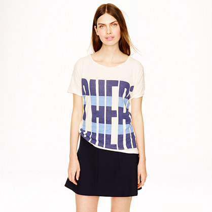 Sale alerts for J.CREW Drapey tee in cheri - Covvet
