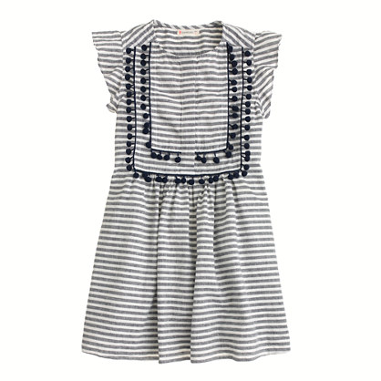 Sale alerts for J.CREW Girls' stripe pom-pom dress - Covvet