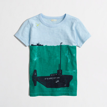 Boys' submarine storybook t-SHIRT
