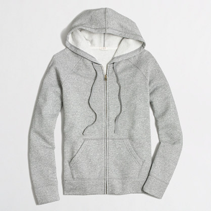 Factory fleece full-zip hoodie