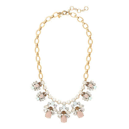 Crystal and carved stone necklace