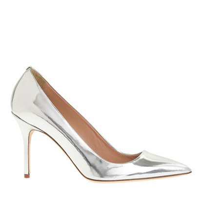 Elsie metallic leather pumps
