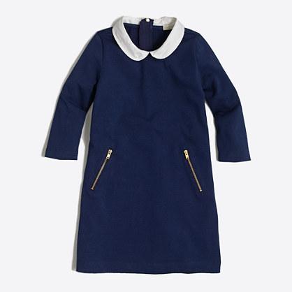 Factory girls' Peter Pan collar dress