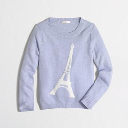 Factory girls' Eiffel Tower intarsia sweater