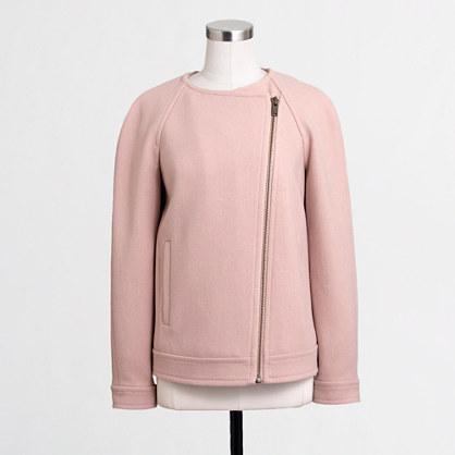 Factory cropped zipper jacket