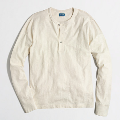 Factory textured cotton henley