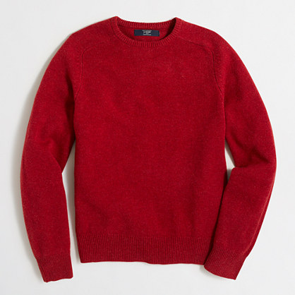 Factory lambswool crewneck sweater