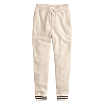 Boys' slim slouchy sweatpant with stripe cuff