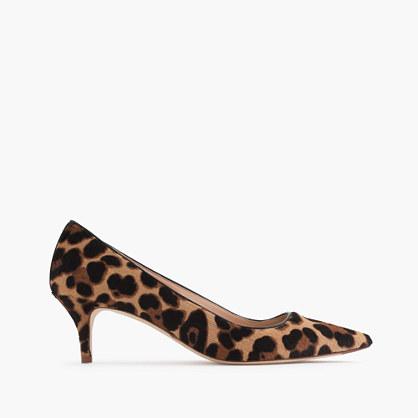 Collection Dulci calf hair kitten heels