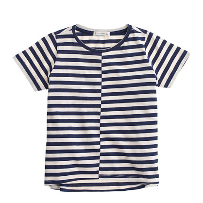 Girls' swing T-shirt in stripe
