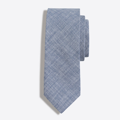 Factory faded chambray tie