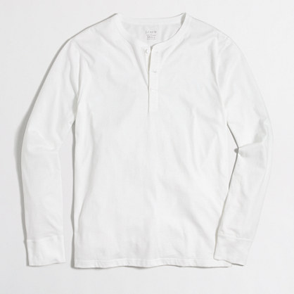 Factory cotton jersey henley