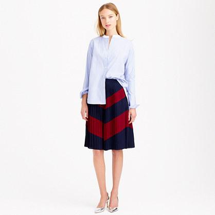 Petite pleated chevron skirt
