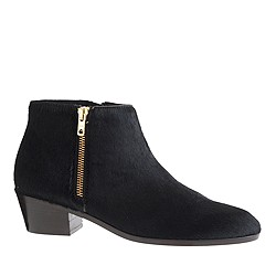 Collection Remi calf hair double-zip ankle boots