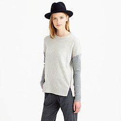 J.Crew Lambswool zip sweater in colorblock