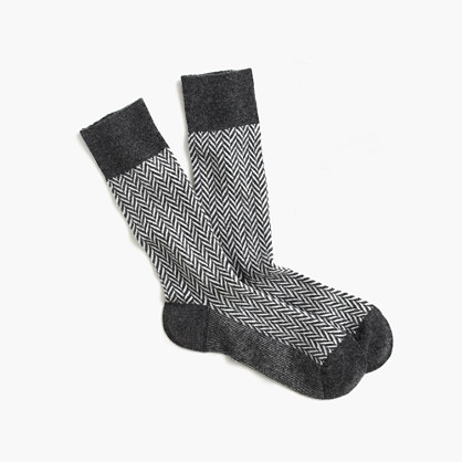 "Anonymous Ismâ""¢ wool herringbone socks"