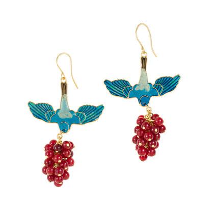 Marc Alary™ for J.Crew birdberry earrings