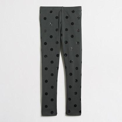 Factory girls' leggings in glitter dots