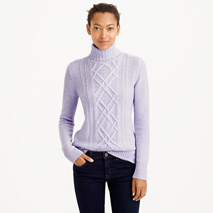 Cambridge Cable Turtleneck Sweater New Arrivals J Crew