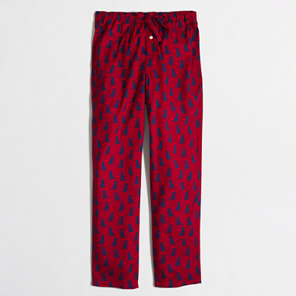 Factory Labrador flannel sleep pant
