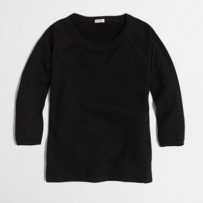 Factory woven-sleeve sweatshirt
