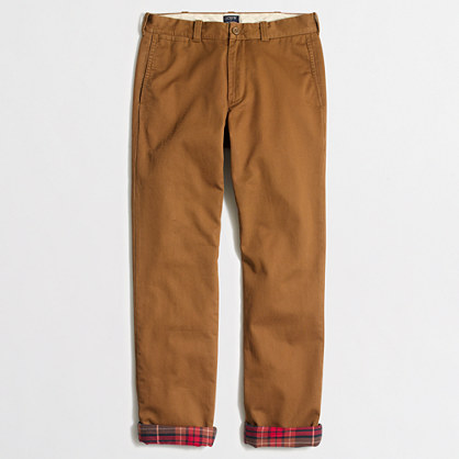 Factory Sutton flannel-lined chino