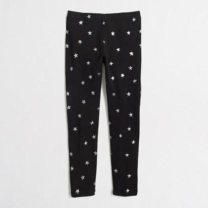 Factory girls' glitter star leggings