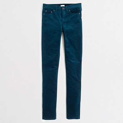 Factory midrise skinny jean in velvet