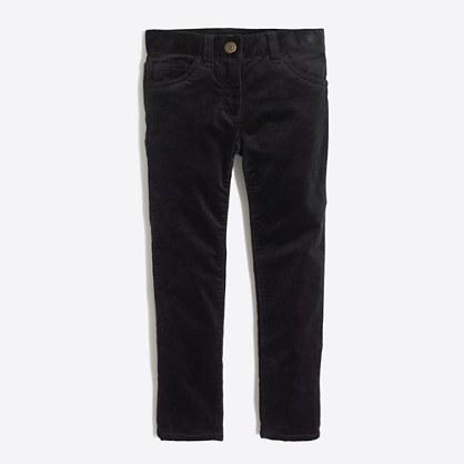 Factory girls' skinny velvet pant
