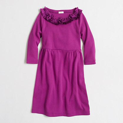 Factory girls' ruffle-trim T-shirt dress