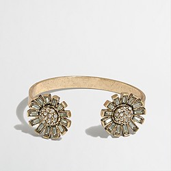 Factory crystal flowers cuff bracelet