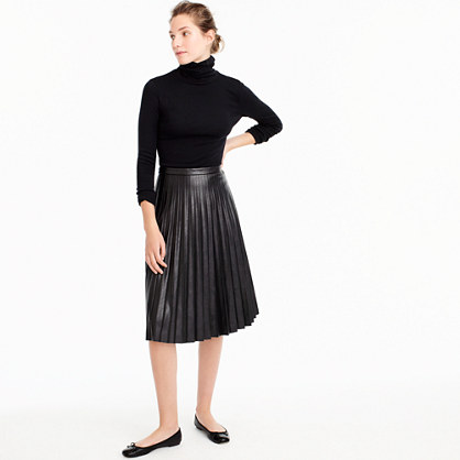 sunburst midi skirt in faux leather skirts j crew