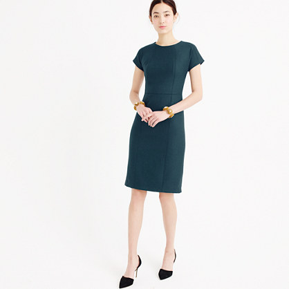 Dolman dress in double-serge wool