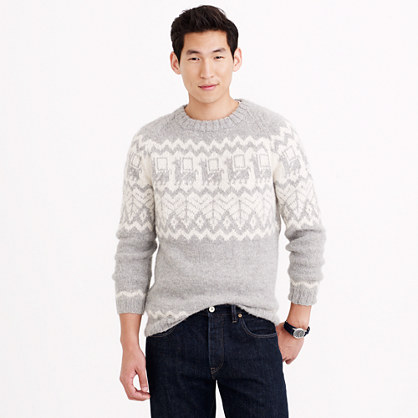 "Industry of All Nationsâ""¢ hand-knit alpaca sweater"