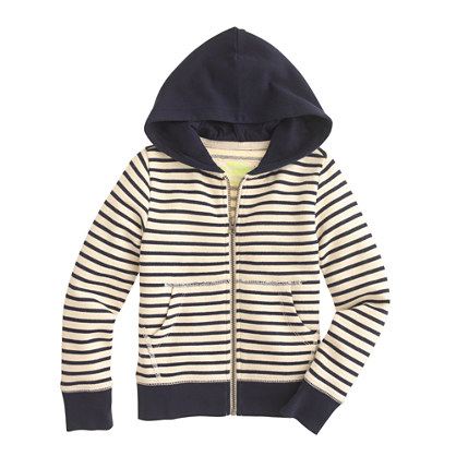 Boys' hangout zip hoodie in colorblock stripe
