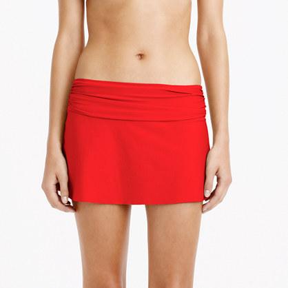 Cinched bikini beach skirt
