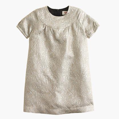 Girls' Maan™ ivory lamé dress