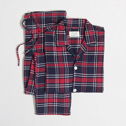 Factory slim flannel pajama set