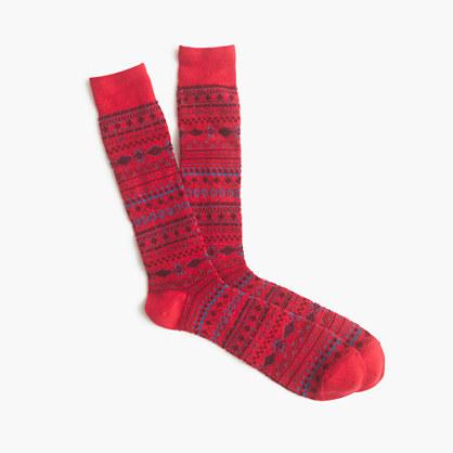 Mini Fair Isle socks