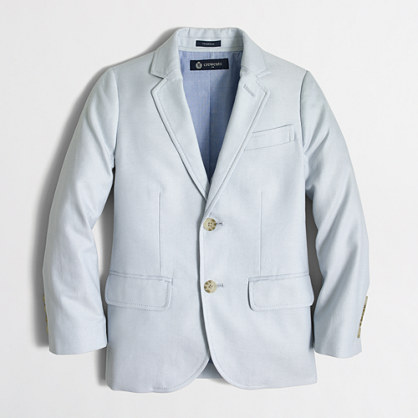 Factory boys' Thompson suit jacket in oxford
